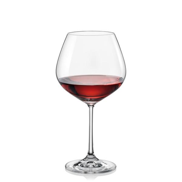 Фужеры Viola вино 570мл. 6шт. (Богемское стекло, Чехия 40729--570). Алматы
