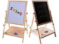 Мольберт 2 в 1 доска знаний магнит азбука