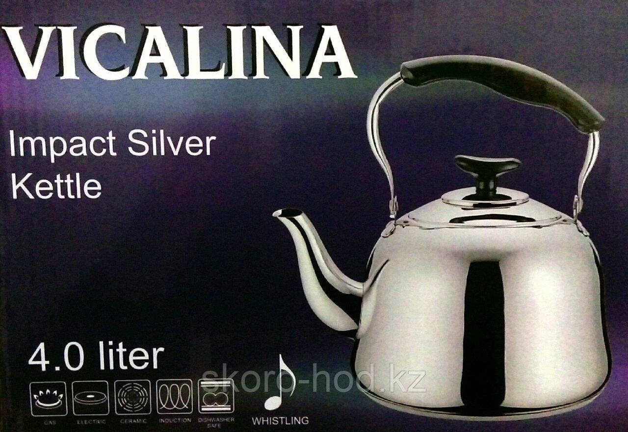 Чайник со свистком Vicalina, 4 литра