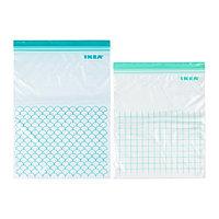 Пакет пластиковый ИСТАД 30 шт. бирюзовый ИКЕА, IKEA