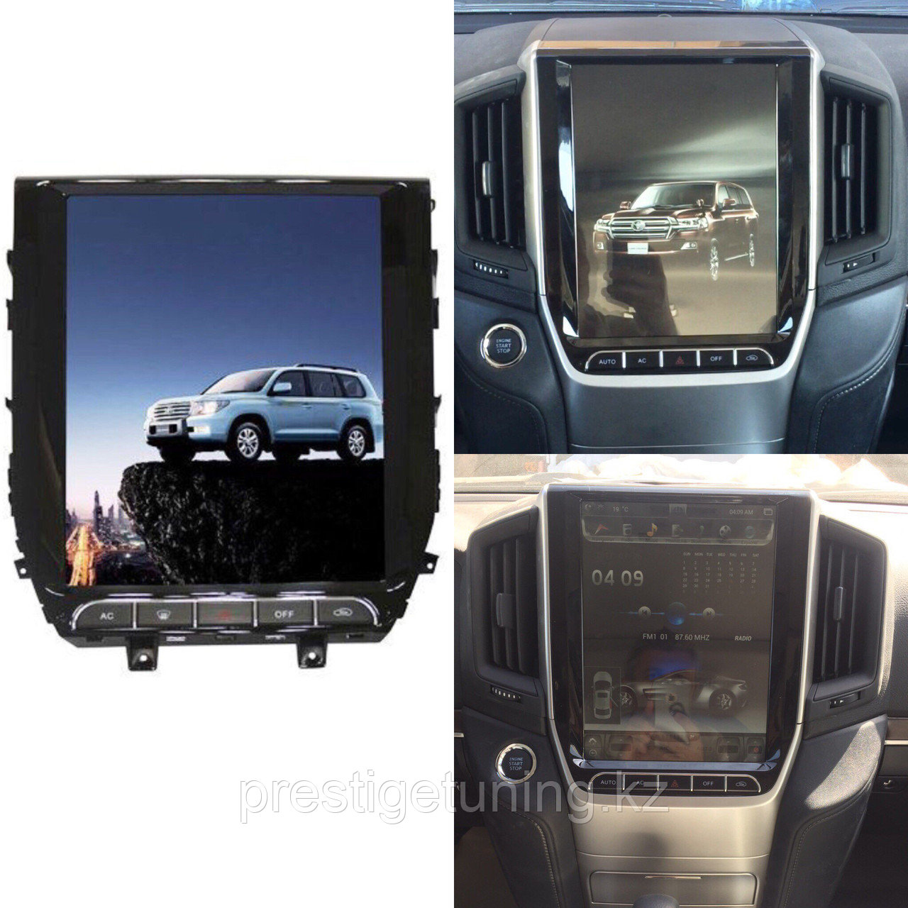 Головное устройство Tesla screen 12,1 на LC200 2016-18