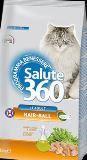 Salute 360 Cat Hair-ball Сухой корм для выведения комков шерсти жкт взрослых кошек, 400 г, фото 1
