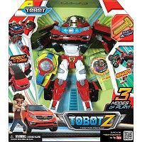 Трансформер TOBOT Z, с наклейками, карточками, браслетом и ключом-токеном