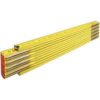 Складной метр Stabila тип 900, деревянный 2м х 16мм, бело-желтая, деление в см и мм на обоих краях