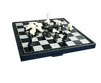 Шахматы шашки нарды. 3 в 1. Магнитное поле., фото 1