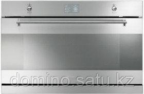 Встроенный духовой шкаф 90см Smeg SFP9395X с пиролизом - фото 1