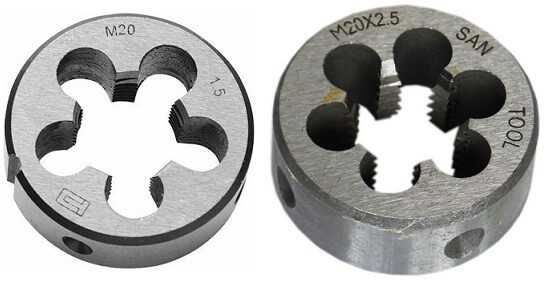 Плашки (лерки) трубные G, R, K