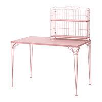 Стол с дополнительным модулем ФАЛЬКХОЙДЕН розовый ИКЕА, IKEA, фото 1