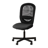 Рабочий стул,ФЛИНТАН, Висле черный ИКЕА, IKEA, фото 1
