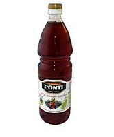 Уксус винный красный 6% Понти 1л пластик Италия