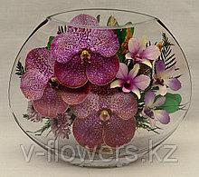Живые цветы в стекле EMO-03