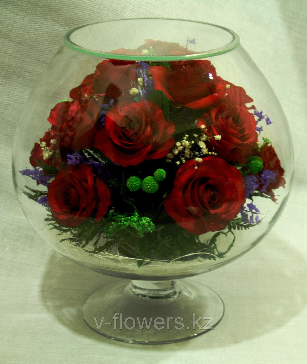 Живые цветы в стекле GJR