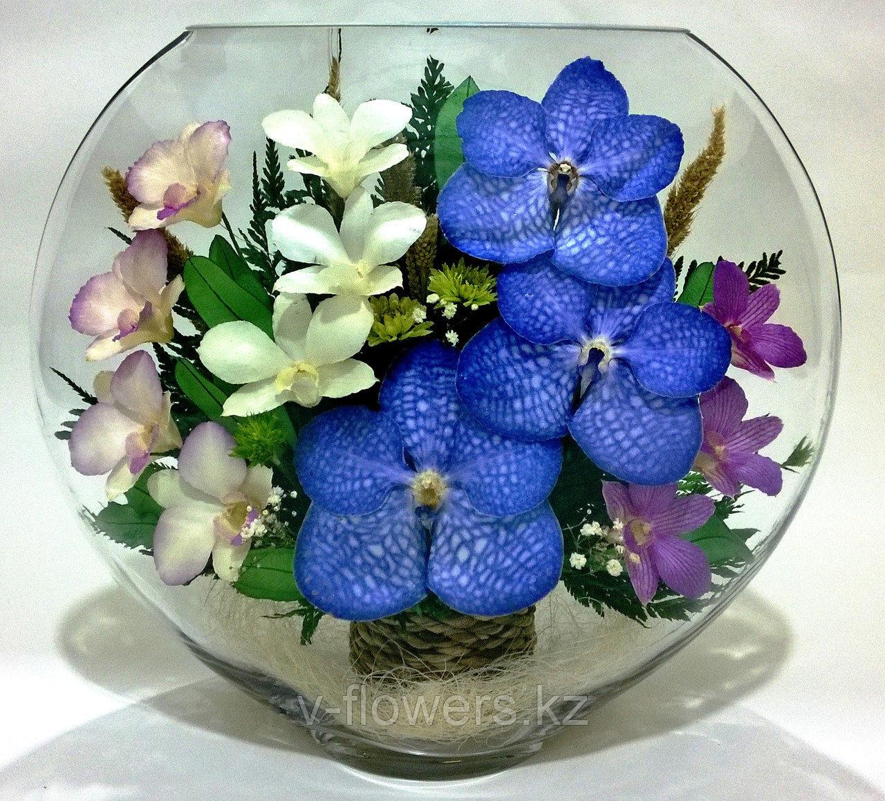 Живые цветы в стекле ELO-05