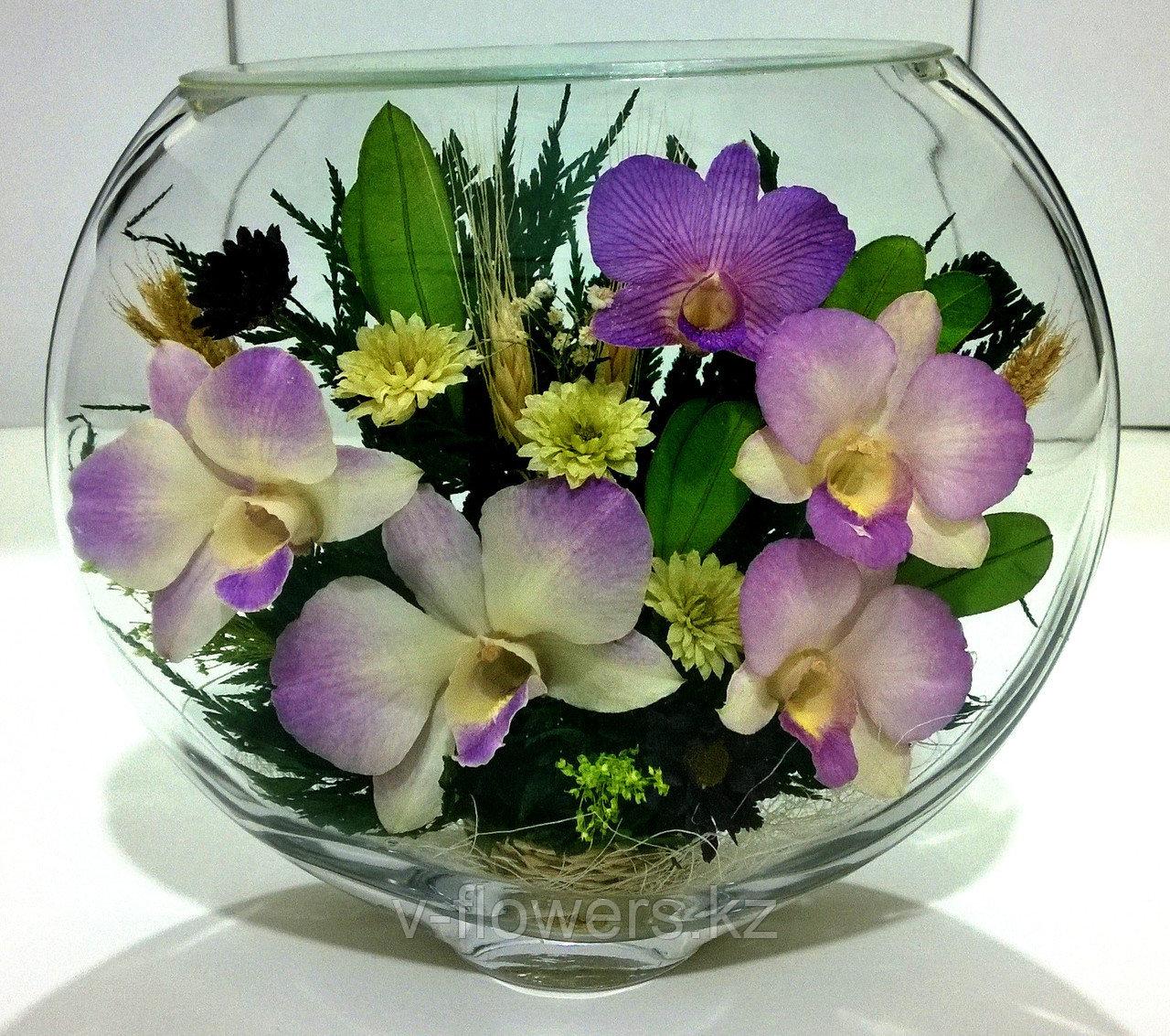 Живые цветы в стекле ESО-03
