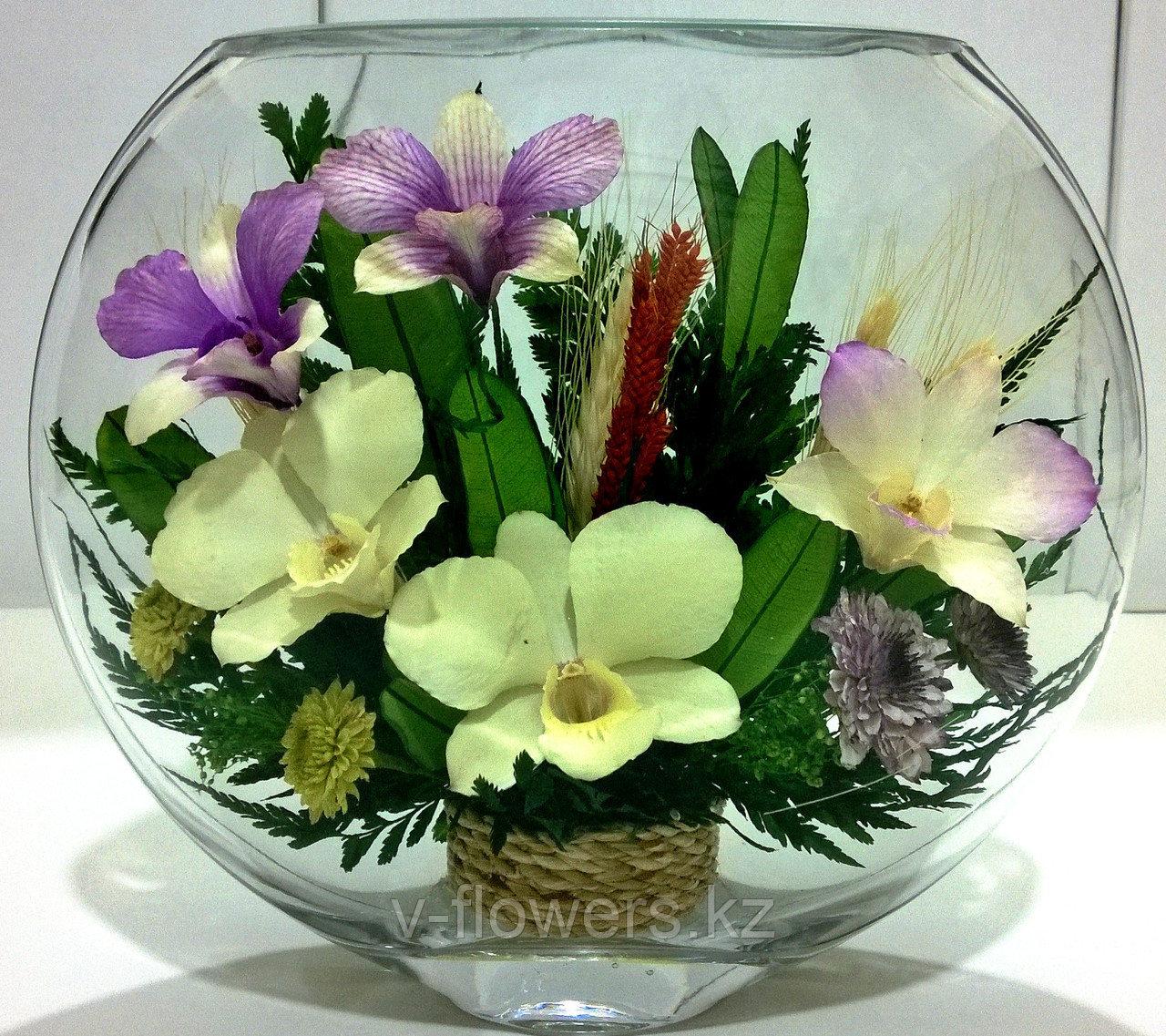 Живые цветы в стекле ESО-05