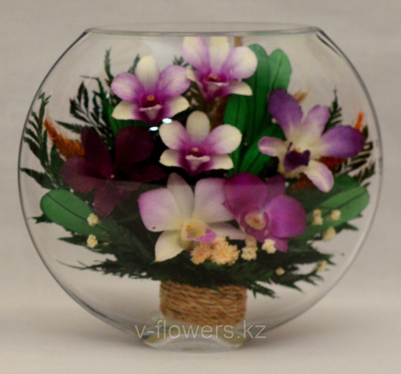 Живые цветы в стекле ESО-06