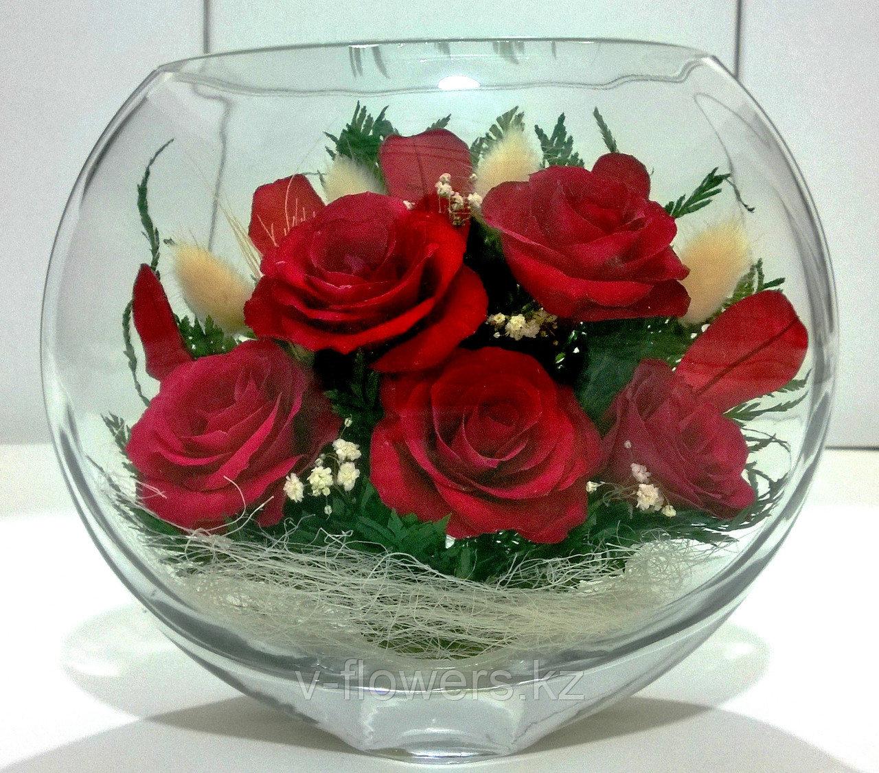Живые цветы в стекле ESR