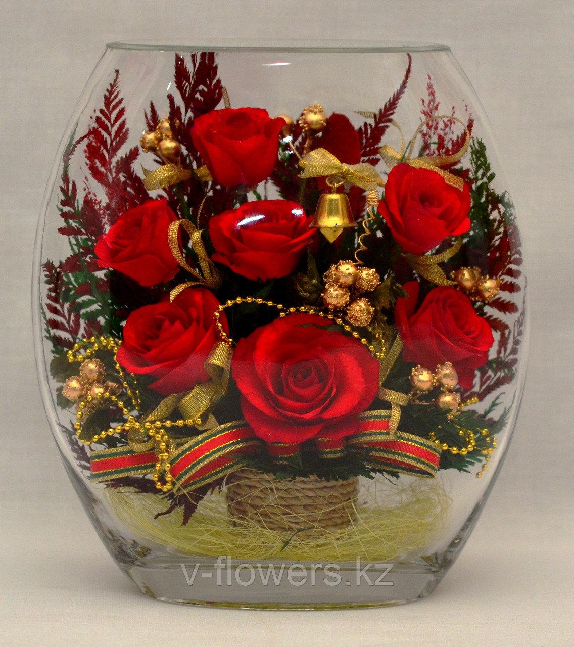 Цветы в вакууме на новый год EMX