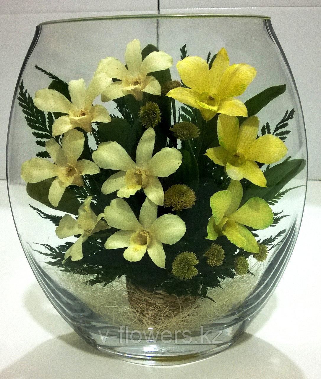Живые цветы в стекле EHO-02