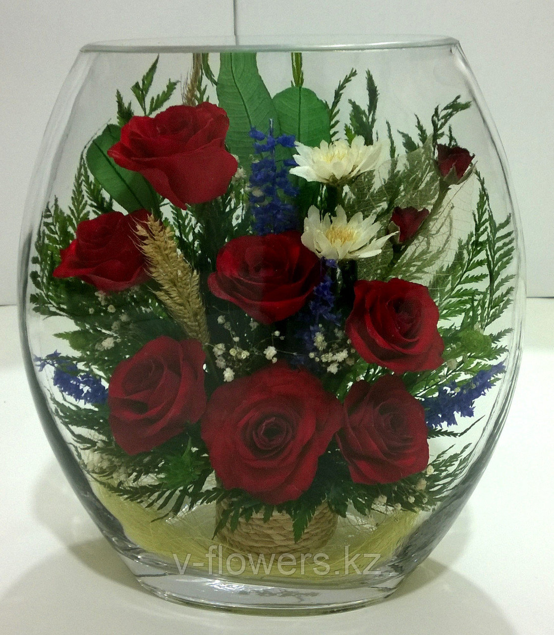 Живые цветы в стекле ERR-01