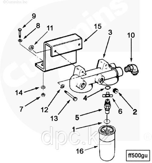 Фильтр для топлива Cummins Fleetguard FF5040 Флитгард