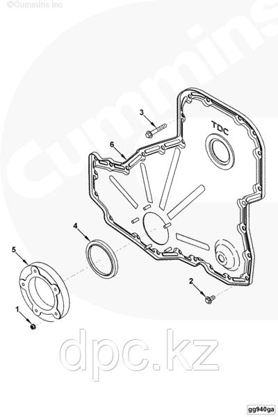 Крышка двигателя (передних распределительных шестерен) Cummins 6CT 6L 3943813