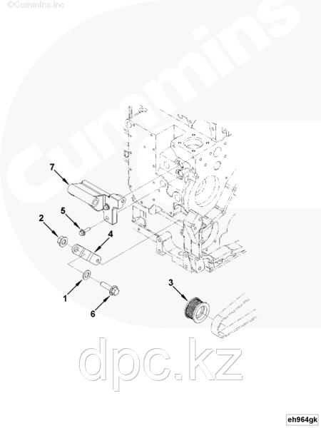 Крепление генератора Cummins ISLe 3286653