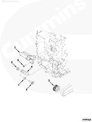 Кронштейн генератора Cummins ISLe 4931820