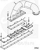 Прокладка системы впускного коллектора Cummins C8.3 3944646 3940851, фото 2