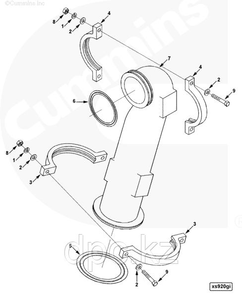 Прокладка компрессора Cummins 4-6BT 3960049