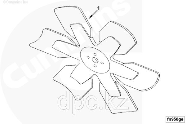 Вентилятор в сборе (радиатор охлаждения, вискомуфта) Cummins EQB 140-20 4931500