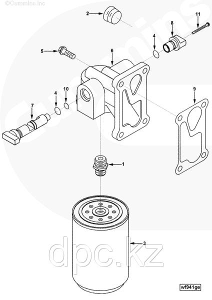Фильтр системы охлаждения Fleetguard (Флитгард) WF2071 3100304