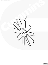 Вентилятор Cummins в сборе с термомуфтой (D=550mm) 4988656