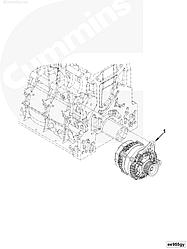 Генератор (24V/70A) Cummins ISF3.8L 4990783 5318117