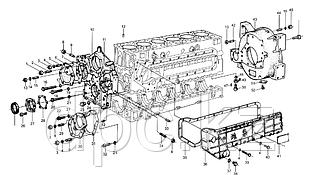 Передняя крышка двигателя Weichai WD615