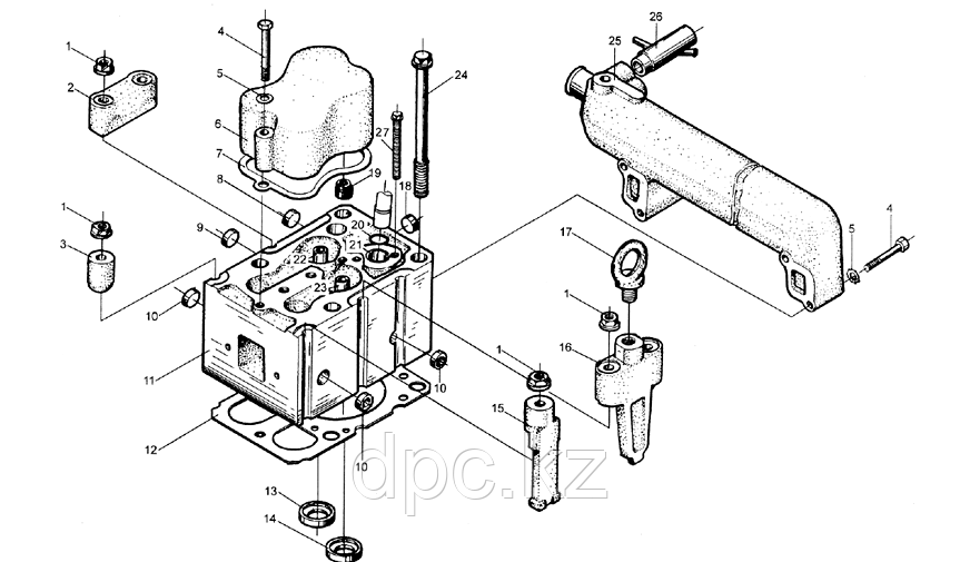 Кольцо уплотнительное форсунки Weichai WD615  406060010