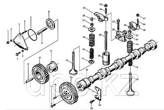 Тарелка пружины впускного клапана Weichai WD615  614050017