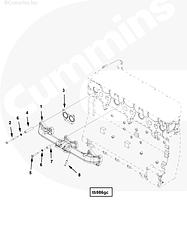 Болт крепления выпускного коллектор Cummins ISG12 3696708