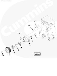 Шкив вентилятора Cummins ISG12 3696559