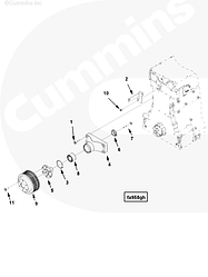 Болт (M10 X 1.50 X 30) шкива вентилятора Cummins ISG12 3903112