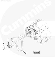 Болт крепления натяжителя ремня Cummins ISG12 4991495