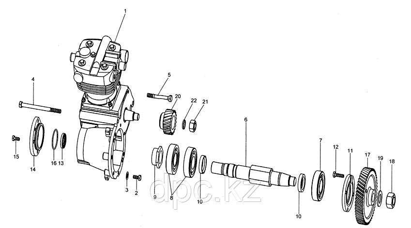 Шестерня компрессора Weichai WD615 Евро-3 VG1560130012