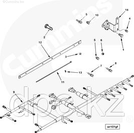 Навесное оборудование, воздушные компрессоры, генераторы, трубки, датчики, модули Cummins N14