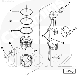 ЦПГ, поршни, поршневые кольца, пальцы, шатуны Cummins N14