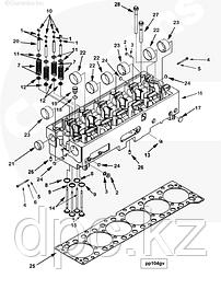 ГБЦ, клапаны, сёдла, сухари, коллекторы, термостаты, направляющие Cummins QSX ISX 15
