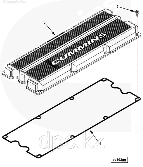 Прокладка клапанной крышки Cummins ISX QSX 3104392