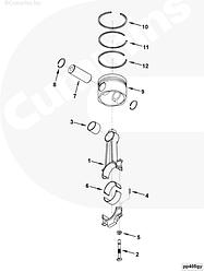 Комплект поршневых колец Cummins QSK-19 4090028