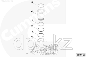 Гильза ремонтная Cummins QSK-19 4371779 4333991 4916451