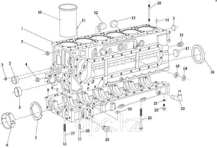 Установочный штифт двигателя Weichai WP10 90003901604