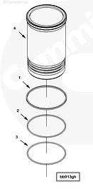 Блок цилиндров, гильзы, помпа, масляный насос, ремни Cummins QSK23